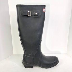 Hunter Classic Tall Matte Black Rain Boots size 9